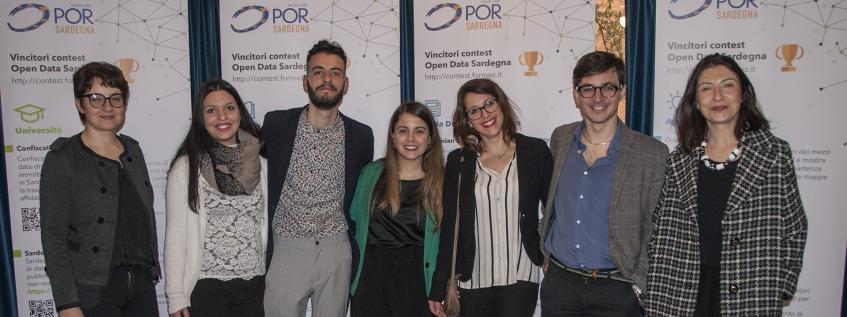 Alcuni dei vincitori del primo Contest Open Data della Regione Sardegna